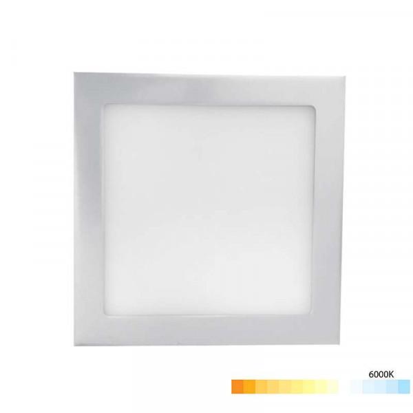 Downlight extrafin carré 6W Gris - Blanc Chaud 3000K