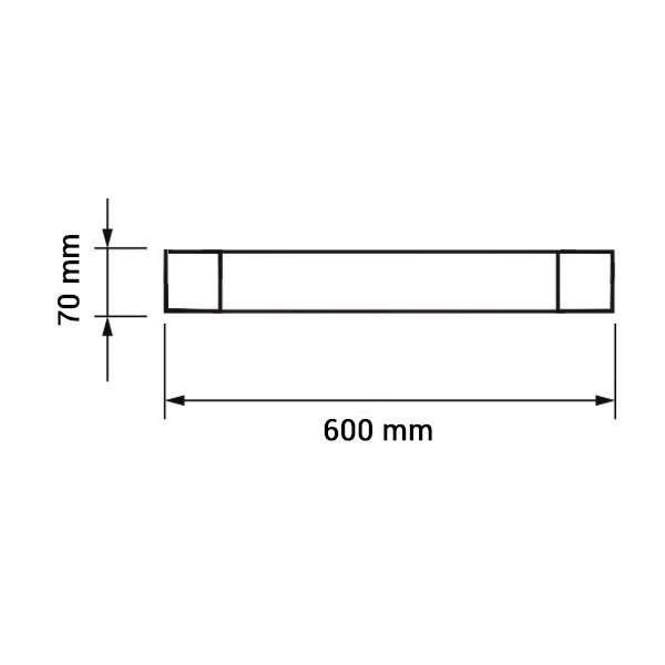 Réglette LED de bureau 60cm, 20W 1600lm équivalent 100W