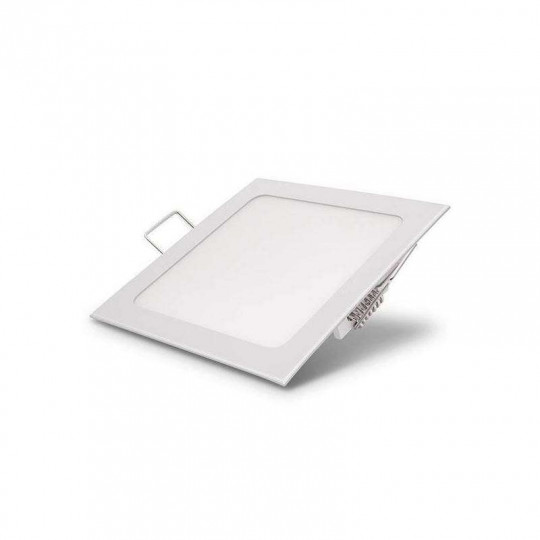 Downlight carré extra fin 18W Blanc - Blanc Chaud 3000K