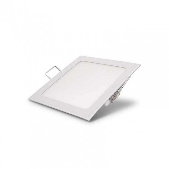 Downlight carré LED 24W Blanc - Blanc Chaud 3000K