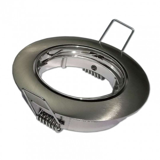 Support Spot Encastrable Rond Orientable Inox