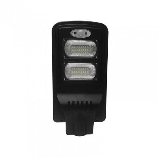 Luminaire LED Urbain Solaire 8W Noir IP65 avec Détecteur + Télécommande