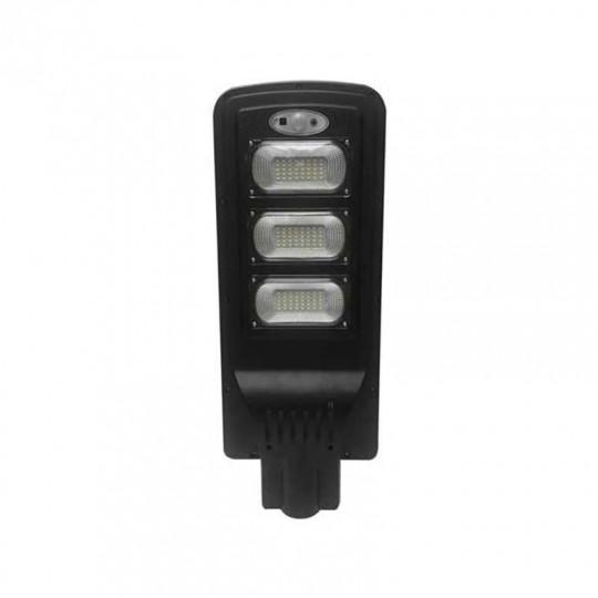 Luminaire LED Urbain Solaire 12W Noir IP65 avec Détecteur + Télécommande