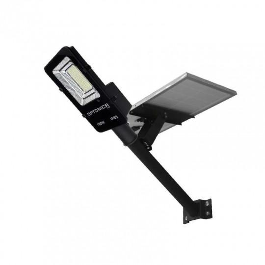 Luminaire LED Urbain Solaire 35W Noir IP65 avec Détecteur + Télécommande