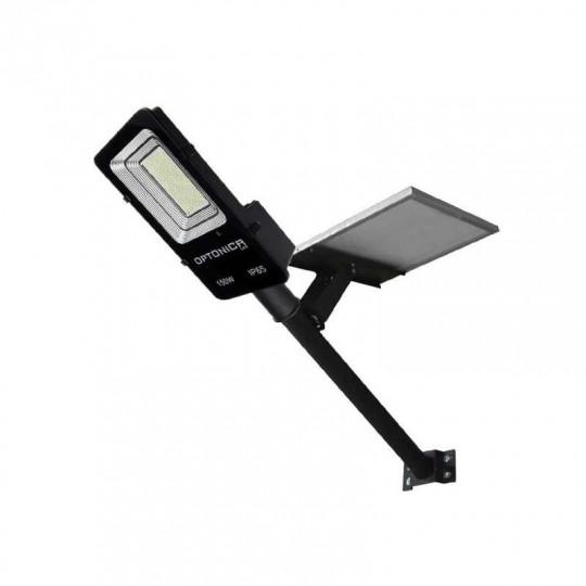 Luminaire LED Urbain Solaire 40W Noir IP65 avec Détecteur + Télécommande