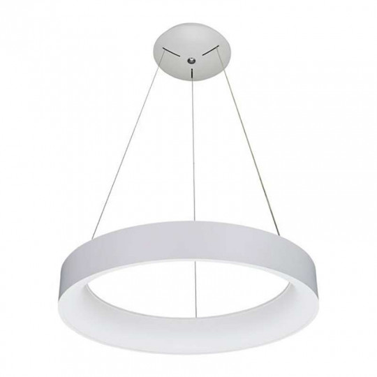 Suspension LED 60W Ronde Blanche diamètre 80cm Blanc Chaud 3000K