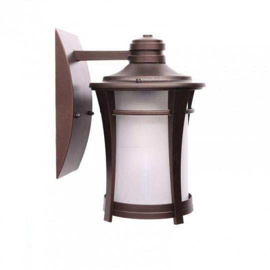 Applique Murale Lanterne LED 5W E27 Bronze Blanc Chaud 1300K