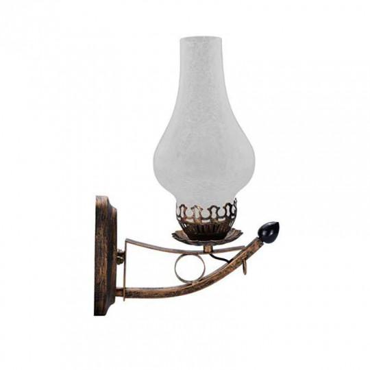 Applique Murale Lanterne Rétro LED 5W E27 Bronze Blanc Chaud 1300K