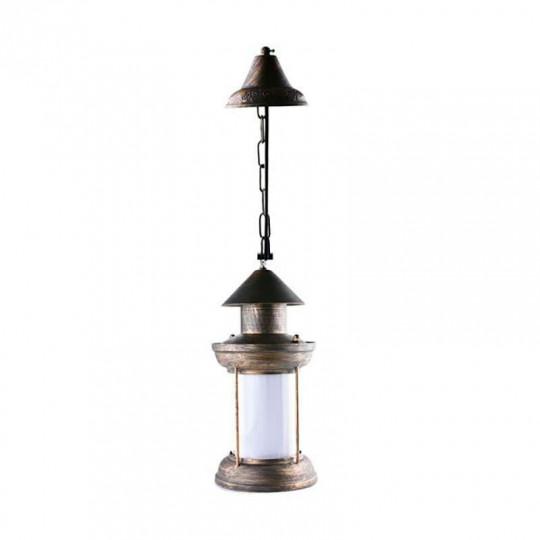 Suspension Type Lanterne LED 5W Bronze E27 Blanc Chaud 1300K