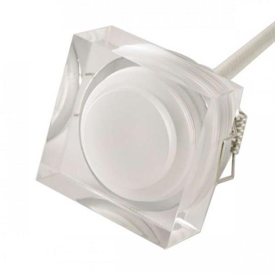 Spot LED encastrable 1W cristal Carré