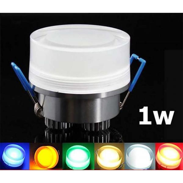 Spot LED encastrable 1W cristal Rond