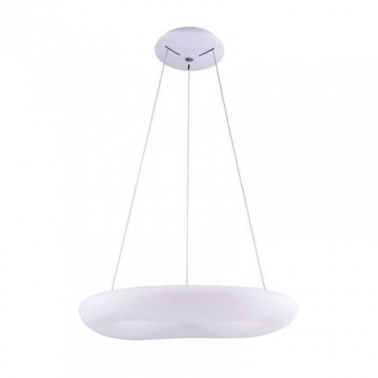 Suspension LED 50W Ronde Blanche Diamètre 60cm Blanc Chaud 3000K