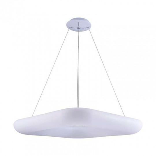 Suspension LED 50W Carrée Blanche 60cm Blanc Chaud 3000K