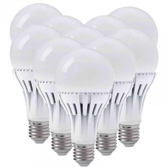 Lot de 10 Ampoules LED Garo E27 A70 14 Watts équivalent 85 Watts Blanc Neutre 4000K