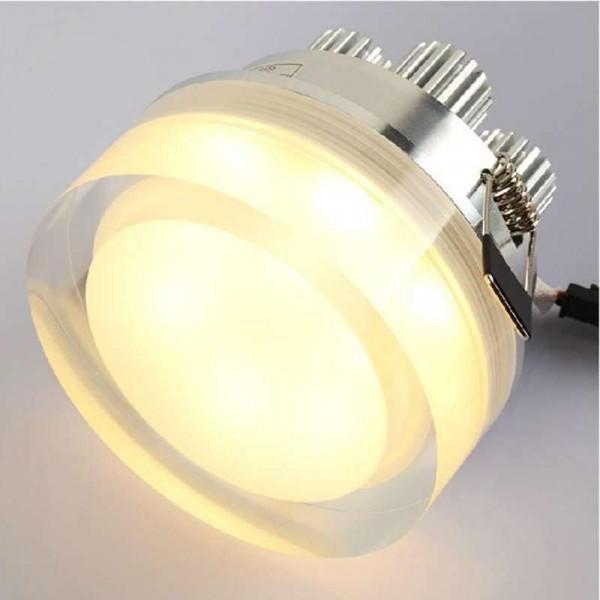 Spot LED encastrable 1W cristal Rond - Blanc Chaud 2700K
