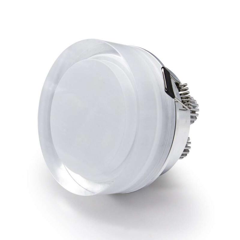Spot LED encastrable 1W cristal Rond...