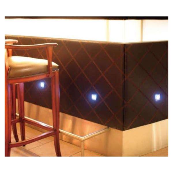 Kit Complet Mini Spots LED Encastrables RGB Multicolores Carrés
