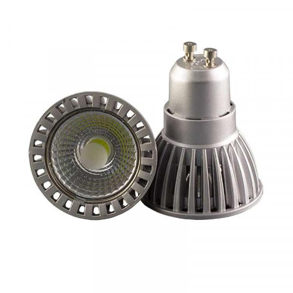 Kit Spot LED GU10 étanche 4W carré aluminium lumière 35W blanc naturel 4500K