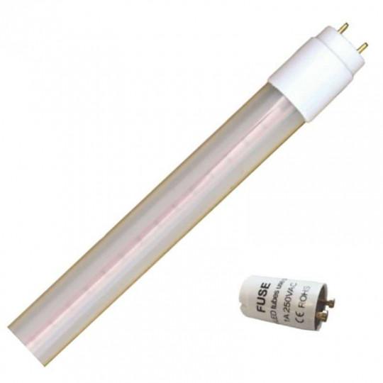 Tube LED T8 23W avec Starter UGR19 1500mm - Blanc Chaud 3000K