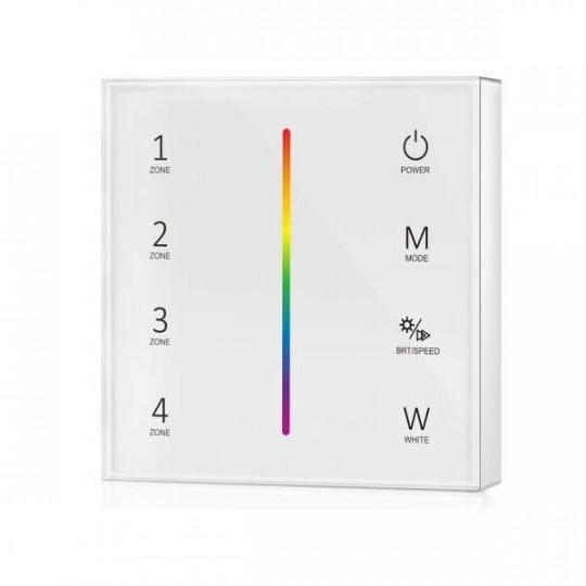 Télécommande Tactile Murale RF 2,4GHz RGB+RGBW 4 Zones
