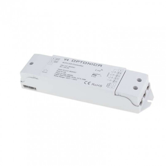 Contrôleur LED Radiofréquence RGB+W IP20 Optonica