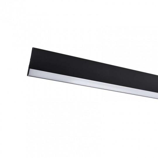 Barre LED lumineuse suspendue 120cm Noire