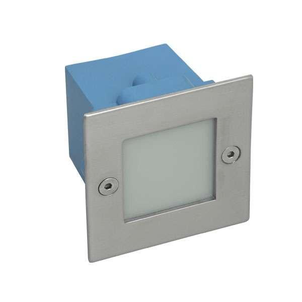 Applique encastrable LED extérieure étanche carré 1,5W éq. 15W