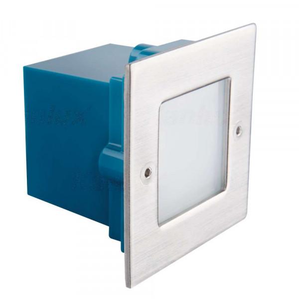 Applique encastrable LED extérieure étanche carré 0,6W - Blanc Naturel 4000K