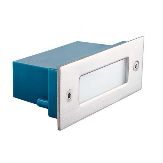 Applique encastrable LED étanche rectangulaire 0,6W - Blanc Neutre 4000K