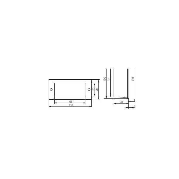 Applique encastrable LED extérieure étanche rectangulaire 1,5W éq. 15W