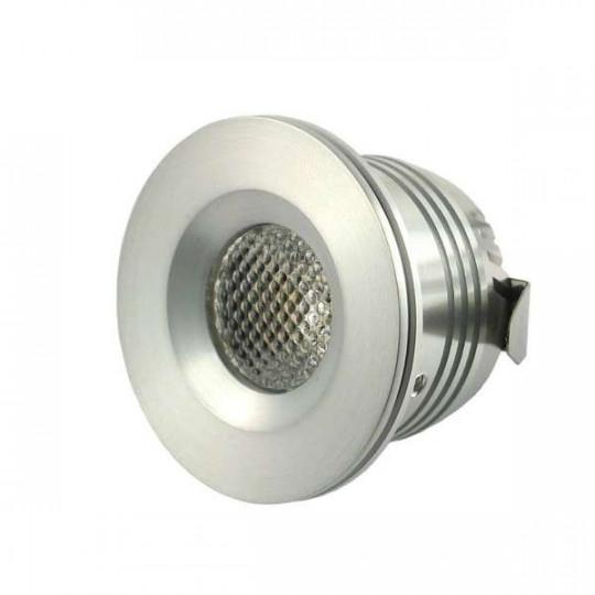 Mini spot LED encastrable 1W 12W