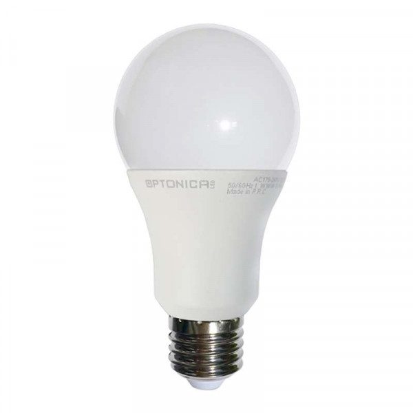 lot de 50 Ampoules E27 12W A65 équivalent 75W Optonica