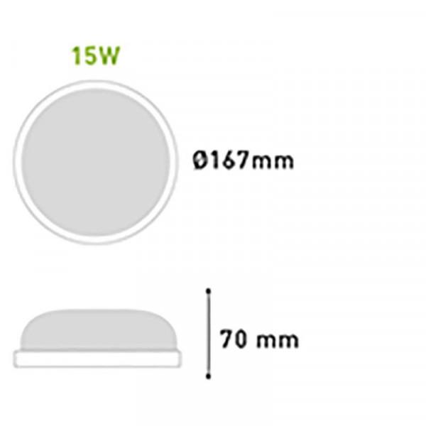 Applique Hublot Ronde LED 15W étanche IP65 équivalent 100W VALQUIRIA