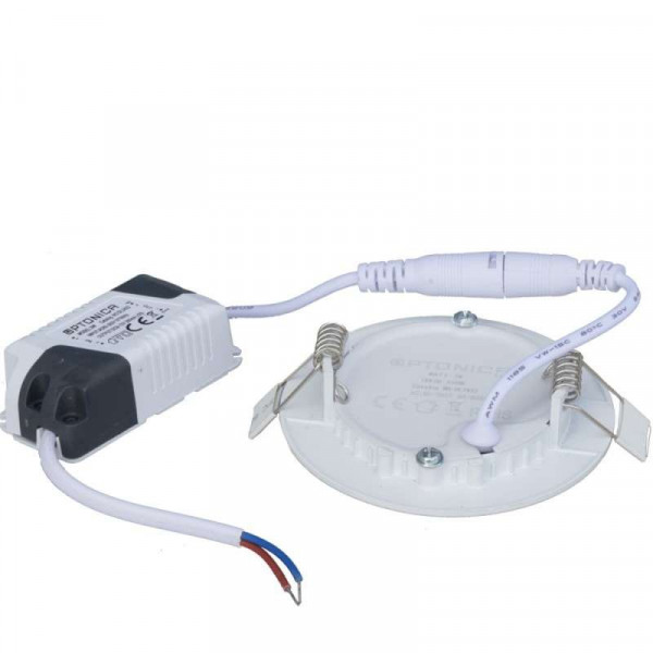 Plafonnier LED Rond 6W Extra Plat (eq 50W) Encastrable - Blanc Naturel 4500K