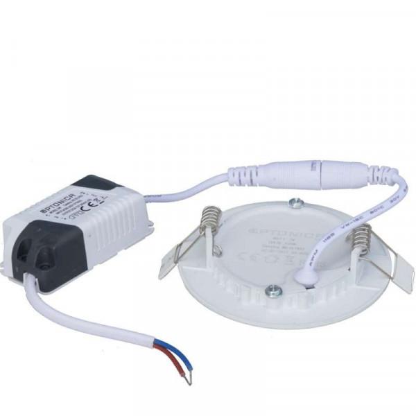 Plafonnier LED Rond 6W Extra Plat (eq 50W) Encastrable - Blanc du Jour 6000K