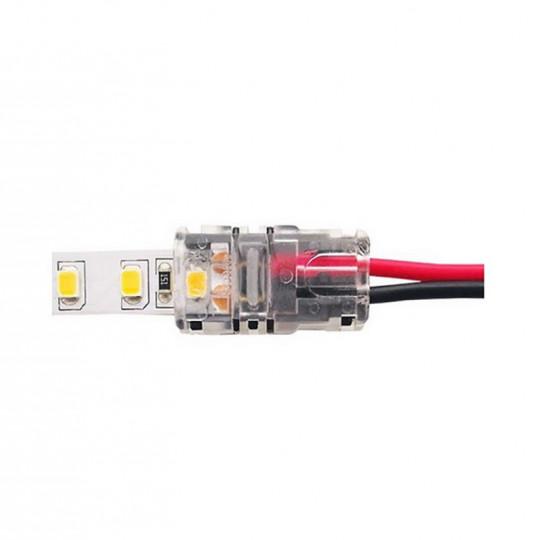 Connecteur Ruban LED 8mm Monocouleur vers Fils