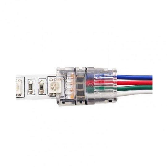 Connecteur Ruban LED 10mm RGB vers Fils