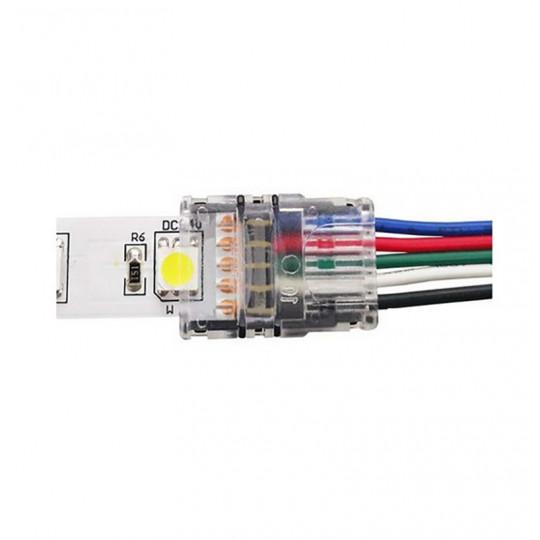 Connecteur Ruban LED 12mm RGB+W vers Fils