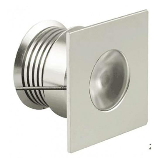 Spot LED carré encastrable compact 4W 12 Volts équivalent 30W