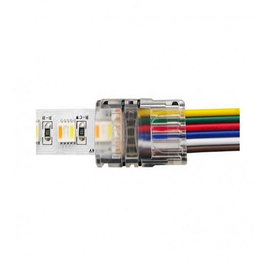 Connecteur Ruban LED 12mm RGB+CCT vers Fils