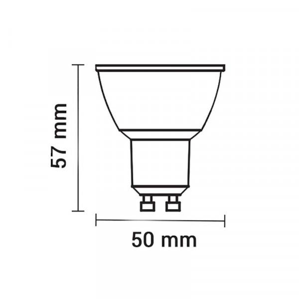 Spot LED 7W GU10 SMD Blanc angle 38° Optonica