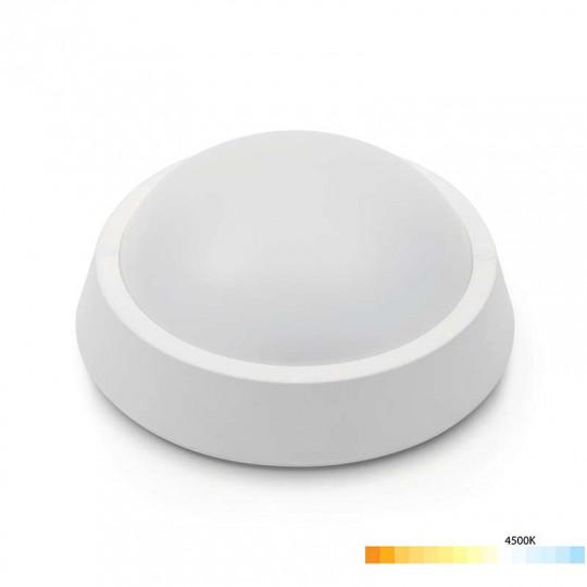 Applique LED Saillie 8W Ronde Étanche IP65 650lm - Blanc Naturel 4500K