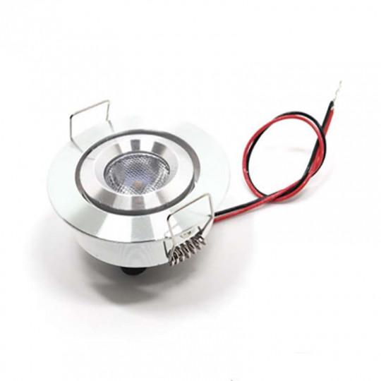 Petit spot LED encastrable 3W 12V équivalent 30W