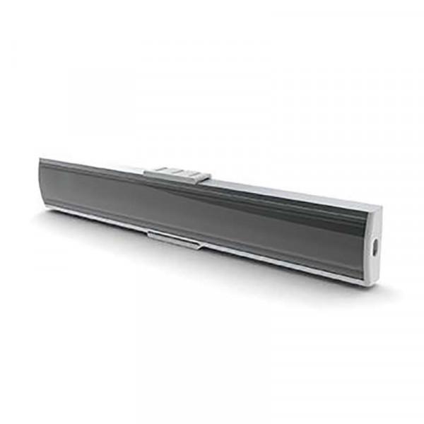 Profilé SLW8 Plat (8mm) pour Ruban Large jusqu'à 20mm