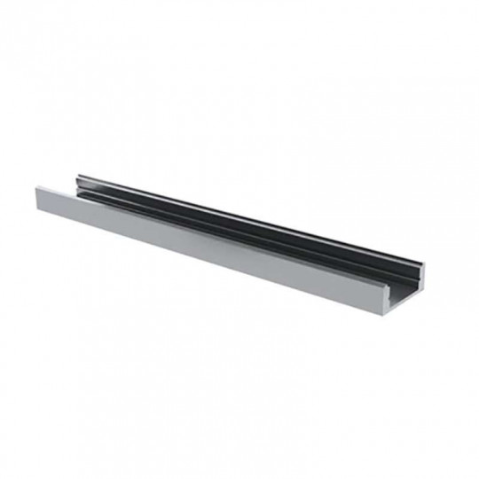 Profilé aluminium blanc laqué plat 7mm SL7 2m