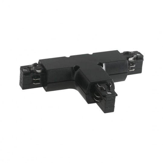 """Connecteur """"T"""" Noir pour Rail LED - 4 Wires Triphasé"""