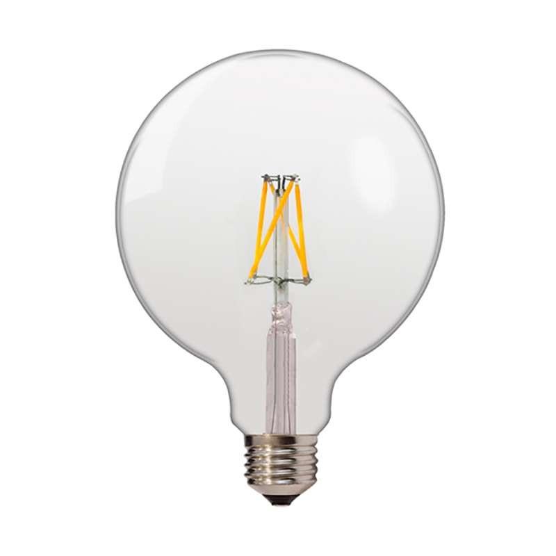 Ampoule E27 globe G125 filament LED 6,5W (50W) Optonica