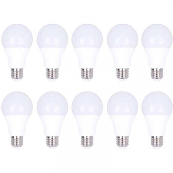 Lot de 10 Ampoules E27 12W A60 équivalent 60W