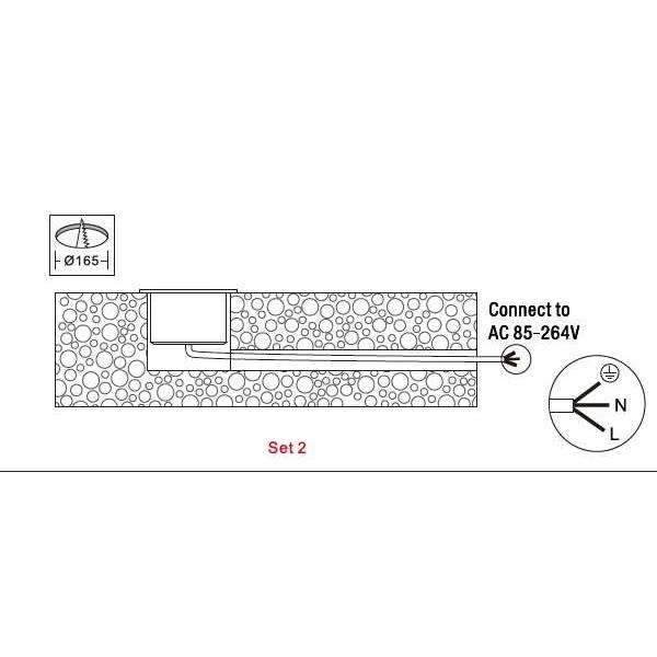 Spot LED extérieur à enterrer 18W (150W)