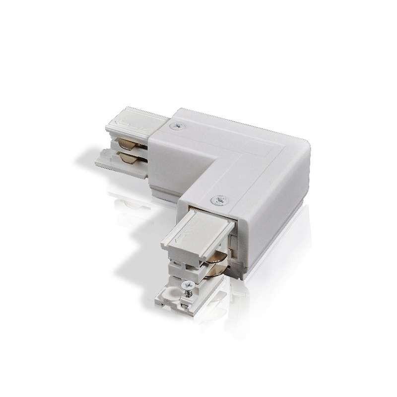 Connecteur angle 90° rail - 4 wires Triphasé